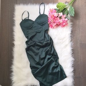 URBAN BEHAVIOR dark green party dress